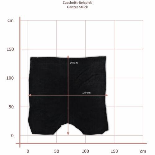 Farbe Schwarz Rindspaltleder Stärke ca Velours 1,1 mm