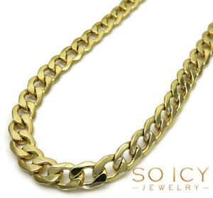 20-26-034-5-2mm-10k-Yellow-REAL-Gold-Miami-Cuban-Curb-Lite-Chain-Necklace-Mens