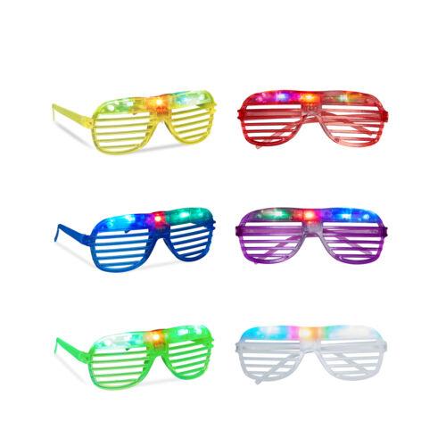 Partybrille LED Jalousie-Brille LED-Brille Spaß-Brille Fasching Leuchtbrille