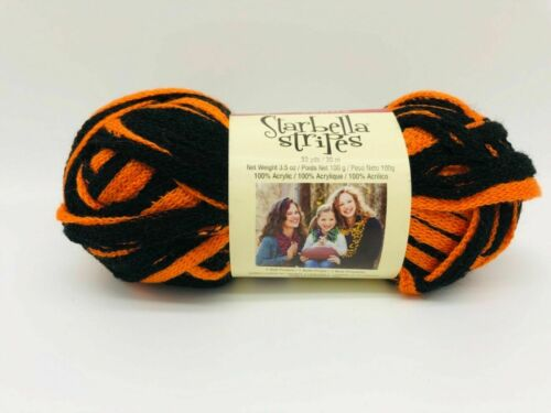OrangeWhite /& RedWhite /& BlackOrange Premier Starbella Yarns Stripes