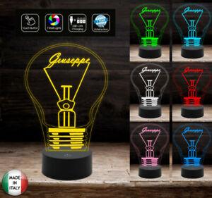 Idea-regalo-LAMPADINA-con-nome-Lampada-led-7-colori-da-comodino-o-scrivania