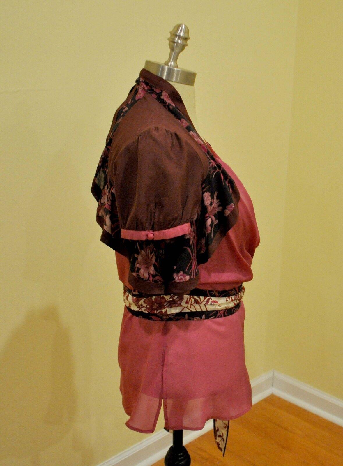 Gucci Silk Print Floral Ruffled Blouse Shirt Top … - image 6