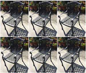Awe Inspiring Details About Outdoor Dining Chairs Set Of 6 Cast Aluminum Patio Furniture Rust Free Squirreltailoven Fun Painted Chair Ideas Images Squirreltailovenorg