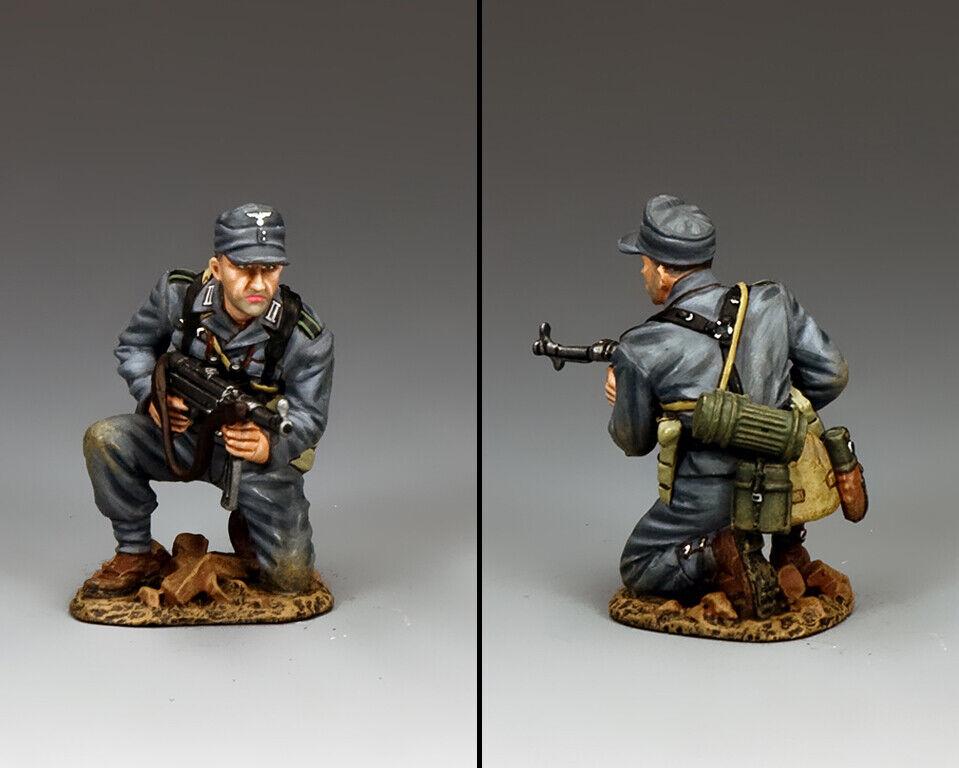 King & Country Ww2 Ejército Alemán Wh079 de Rodilla Panzer Granadero Schmeisser