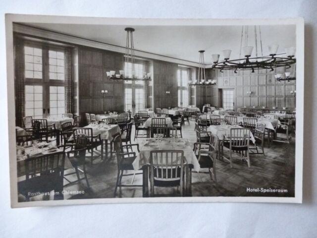 Ansichtskarte Rasthaus am Chiemsee innen Hotel-Speiseraum (Nr.596) -II