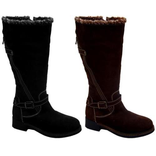 Señora cuero arriba y interior arriba las rodillas apartado apartado apartado baja señora botas zapatos  clásico atemporal