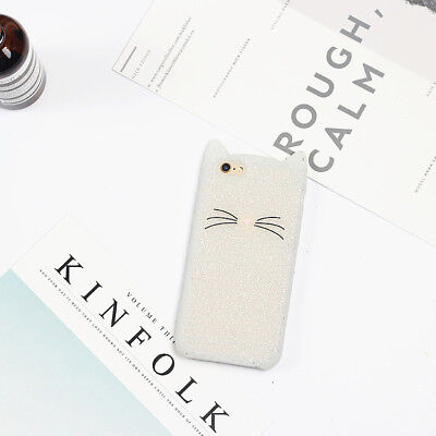 Hot New Cute Bearded Cat Cartoon Soft Phone Case Cover For Samsung Galaxy Phones