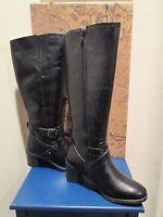 Bussola Style Hyla Black Leather Riding Boots Womens Shoes Sz 35 - 5-5.5 Us
