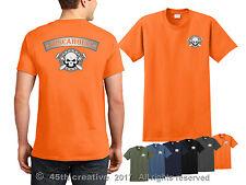 Disc Golf T-Shirt - discaholic disc golf course shirt disc golfer skull shirt