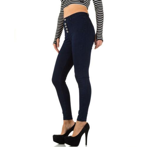 Damen Used Look High Waist Skinny Jeans 6418 Ital-design