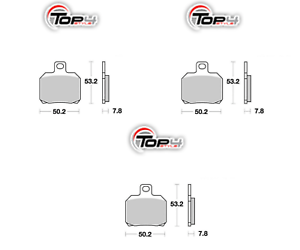 Fringant 151058x3 Pastiglie Freno Anteriori Posteriori Piaggio 200 X9 Evolution 03 04 Adopter Une Technologie De Pointe