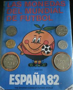 Serie De Monedas Del Mundial De Fútbol España 1982, Con Su Mascota El Naranjito Cdhxidce-08001135-566585490