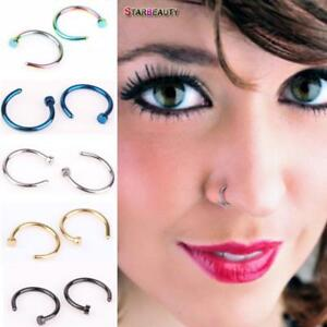 Fake C Clip Lip Ring Nose Piercing Septum Hoop Non Tragus Women