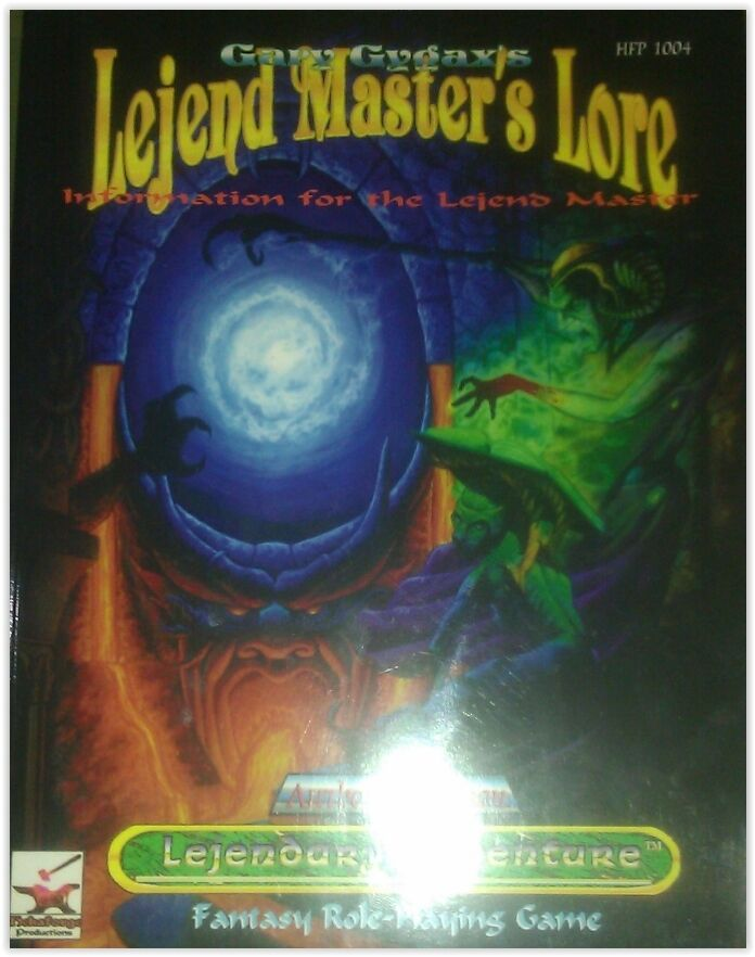 Gary Gygax's Lejend Master's Role AUTHOR'S EDITION lejendary adventure hfp 1004