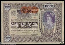v307 AUSTRIA 10000 KRONEN 1918 P#66 SECOND EDITION DEUTSCH ÖSTERREICH UNC
