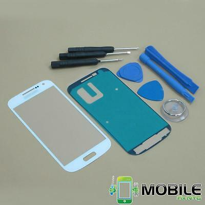 White Front Outer Screen Glass Replacement Lens For Samsung Galaxy S4 Mini i9190