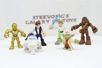 2pcs Playskool Star Wars Galactic Heroes Jedi Force Yoda /& Luke Skywalker