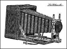 Tampon LA BLANCHE CAMERA BOX monté sur mousse: scrapbooking carterie appareil