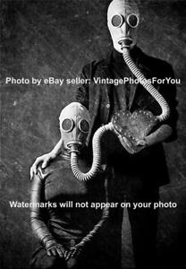 Details about Vintage/Old/Antique 1900s Odd Weird Spooky Creepy Gas Mask  Love Photo/Picture