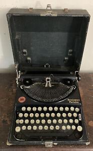 Vintage Original Antique Portable Remington No.2 Typewriter & Case 1927