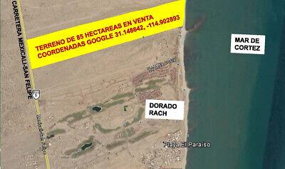 Terreno de 85 hectáreas sobre carretera Mexicali - San Felipe
