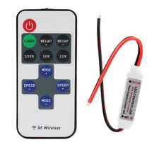 12V Mini RF Wireless Remote Switch Controller Inline Dimmer for LED Strip Light