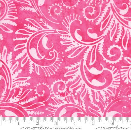 Tela Algodón Batik Bahama batiks Moda yarda media por color de rosa caliente #4352 28 Rosa
