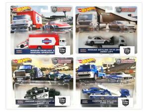 Hot-Wheels-2019-Car-Culture-Team-Transport-Case-F-Set-of-4-Trucks-FLF56-956F