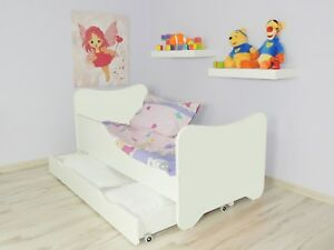 Children-Bed-Junior-Toddler-Bed-For-Kids-with-mattress-140cm-drawer-Pillow