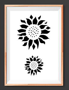 Sunflower Mylar Reusable Stencil Airbrush Painting Art Craft