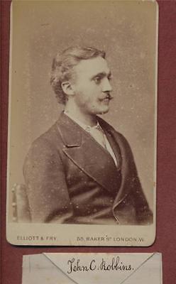 London. 'John C Robbins'  Gentleman Family History   CDV photograph qe.41