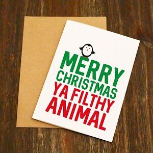 Détails Sur Joyeux Noël Vous Flithy Animal Carte De Noël Adulte Humour Drôle Afficher Le Titre Dorigine