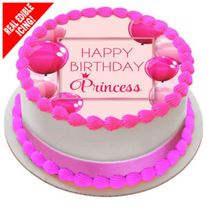 Image Is Loading Happy Birthday Princess Edible Icing Party