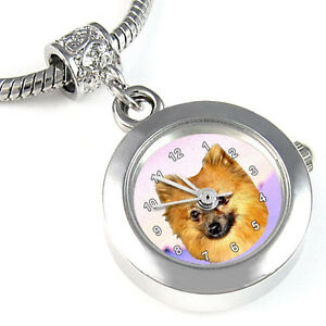 Pomeranian-Pom-Silver-Charm-European-Bead-Watch-EBA124