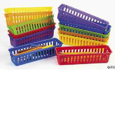 Classroom Pencil Marker Baskets 12 Piece Teacher Supplies - 62/16
