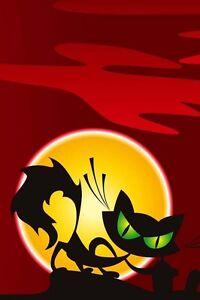 Zucca Halloween Gatto.Dettagli Su Cialda In Ostia Halloween Zucca Gatto Nero Torta