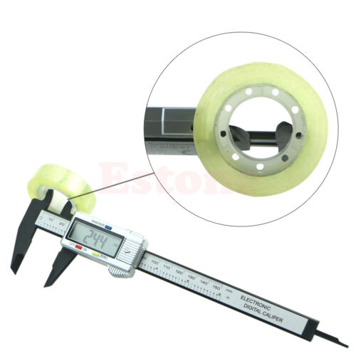 "150mm 6/"" LCD Digital Electronic Carbon Fiber Vernier Caliper Micrometer Gauge"