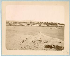 Geiser-Algerie-Vue-sur-un-Village-arabe-Vintage-albumen-print-Tirage-albu