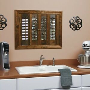 Details Zu Real Wood Interior Window Plantation Shutters Shutter Louver Panels Panel Walnut