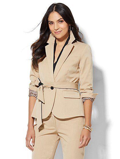 New York & Company 7th Avenue Tie-Waist Runway Super Stretch Jacket Size 0 NWT
