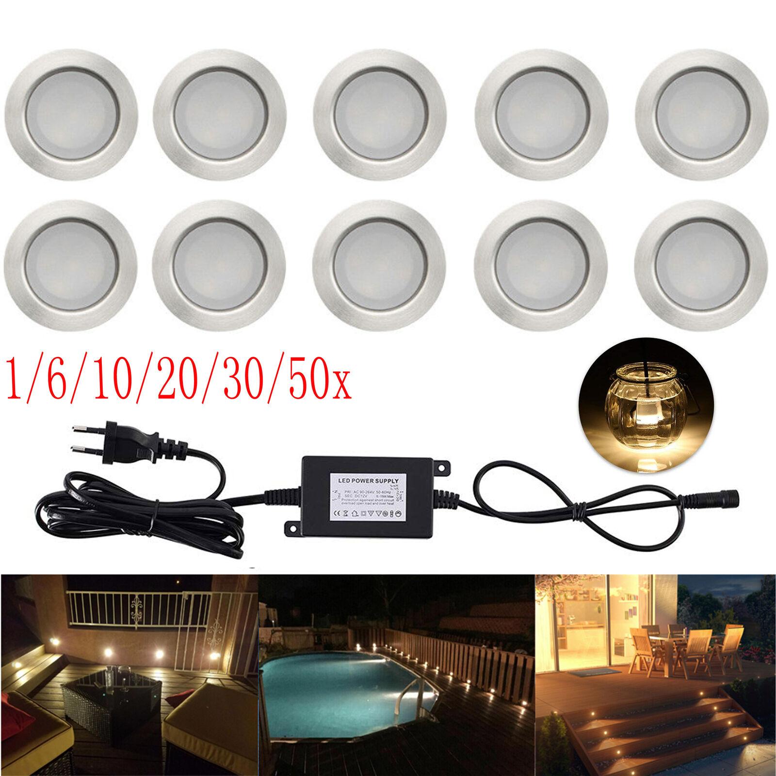 1-50er 1W 45mm 12V LED Spots Terrasse Außen Boden Einbaustrahler Warmweiß IP67     | ein guter Ruf in der Welt  | Tadellos  | Förderung