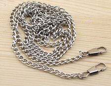 120CM /47.24 Inch Silver Smooth Metal Chain for Handbag or Shoulder strap bag #1