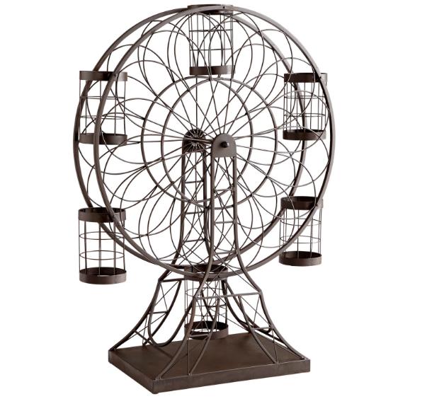Cyan Design grande roue 34.25  Porte Bouteille Vin Fer Ebony 06637 NOUVEAU WOW