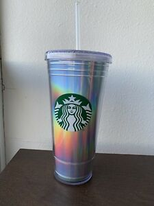 0a9ef76d9dc Image is loading NEW-Starbucks-Holiday-2018-Rainbow-Iridescent-Holographic -Tumbler-