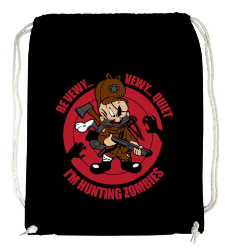 jäger Hunting Zombies Turnbeutel Blackuntote elmer j fudd bugs bunny neu