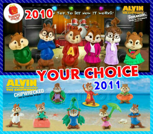 Mcdonald S 2010 2011 Alvin Chipmunks Chipwrecked Squeakquel Your Toy Choice Ebay