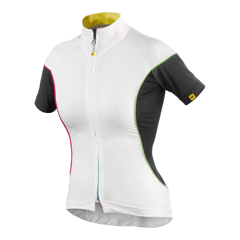 Maillot Route Femme Manches courtes MAVIC BELLISSIMA Blanc XL Noir Taille XL Blanc -49% c229b7