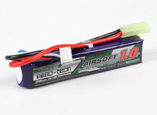 AIRSOFT /& RC CAR Li-Po LITHIUM BATTERY 1000mah 3S 11.1v 20C-40C MINI TAMIYA PLUG