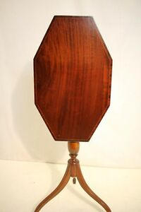 Analytical Antique Mahogany Inlaid Victorian Two Tier Hall Lamp Table Antiques