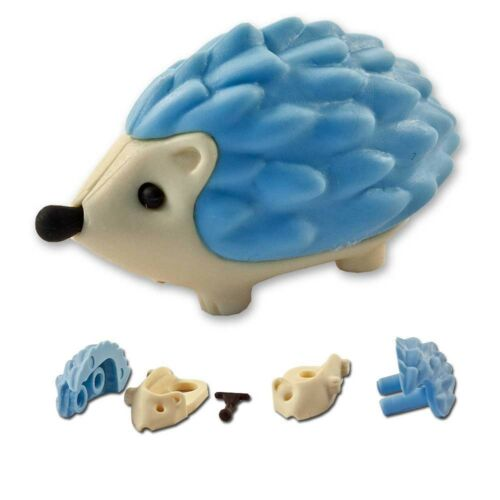 Iwako Puzzle Radiergummi zum Sammeln Igel blau